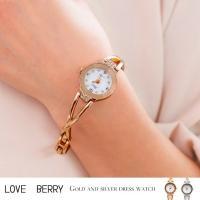 レディース用腕時計です☆  ゴールドとシルバーの2色からお選びいただけます。  シンプルで小さめの文...