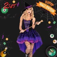 【商品詳細】 ハロウィンにぴったりの魔女のコスプレ☆  ちょっぴり大人っぽいデザインで、セクシーにき...