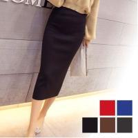 レディース用スカートです☆ 伸縮性のあるニット素材のタイトスカートでボディラインをキレイに見せてくれ...
