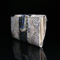 パイソン 蛇柄 蛇革 パイソン柄 長財布 レディース財布 ブランド 二つ折り 人気 かわいい 本革 イタリア製 SILVANO BIAGINI