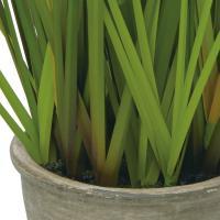(造花 フェイクグリーン 人工観葉植物) ポンポングラスポットS グリーン(DMFG285)