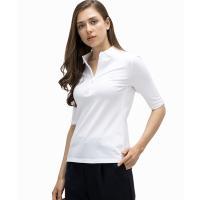 ポロシャツ スリムフィットポロシャツ (五分袖)