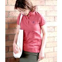 ポロシャツ [GIORDANO]スモールライオン刺繍ポロシャツ