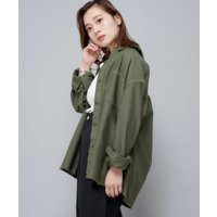 バックサテンシャツジャケット/ミリタリージャケット