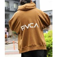 WEB限定 RVCA×FREAK'S STORE/ルーカ 別注ビッグシルエット RVCA バックプリントロゴ プルオーバーパーカー