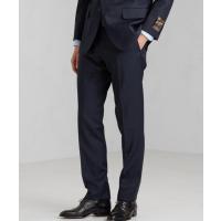 [アルフレッド・ブラウン] ALFRED BROWN ピンヘッド スリム ノープリーツ スーツパンツ スラックス