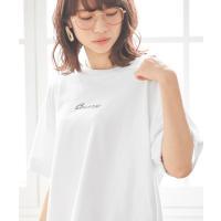 tシャツ Tシャツ 【CONVERSE/コンバース】ADOLESCENCE別注 筆記体ロゴデザインワイドTシャツ【ZOZOTOWN限定アイテム】