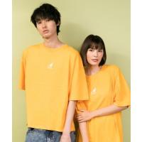 KANGOL◆別注◆オーバーサイズ ロゴ刺繍半袖Tシャツ