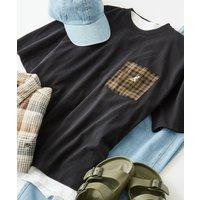 tシャツ Tシャツ KANGOL/カンゴール 別注 ポケット切り替え ワンポイント 半袖Tシャツ