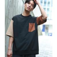 tシャツ Tシャツ 【WEB限定】ビックシルエットクレイジーパターンポケットTシャツ/ユニセックスでオススメ!!