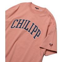 tシャツ Tシャツ WEB限定 カレッジロゴ 刺繍デザインTシャツ/CHILIPP