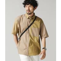 シャツ ブラウス クレイジーソリッドビッグシャツ/半袖