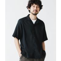 シャツ ブラウス 《WEB限定》ユニフレッシャーリネン 開襟シャツ 半袖
