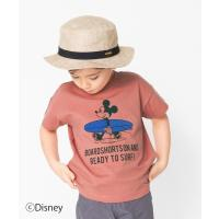 tシャツ Tシャツ 【Disney】サーフボードミッキー半袖Tシャツ