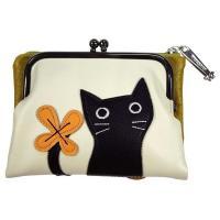 ガマ口財布 サイフ さいふ ノアファミリー おしゃれ ネコ 猫 可愛い 母の日 プレゼント 【代引き不可】