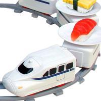 レール全長約158cm!電車がお寿司を乗せて運びます!  おうちで回転寿司が楽しめる「回転寿司トレイ...