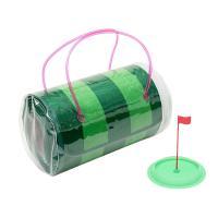 ゴルフ練習マット 自宅で練習!スコアアップはパターが勝負♪ 携帯に便利なバッグ付き!! ゴムホールカ...