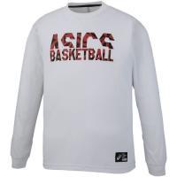 アシックス メンズ バスケットボール ウェア 長袖 プリントロングスリーブトツプ 2063A034 100
