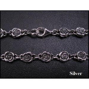 バラのネックレス50cm/花薔薇 シルバー925(メイン)|0001pppcom