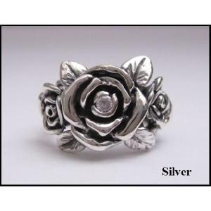 バラの指輪(1)CZ 17号・18号・19号・21号・23号・25号/薔薇花(メイン)|0001pppcom