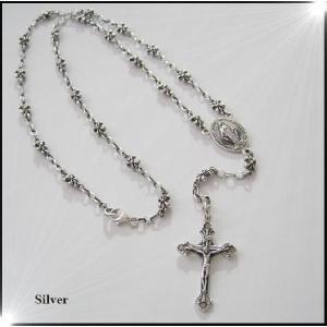 ロザリオネックレス(1)60cm/十字架シルバー(メイン)(補722)|0001pppcom