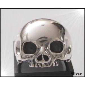 シンプルスカルリング(2) シルバードクロ骸骨 メイン|0001pppcom