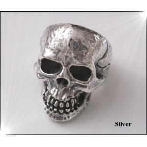 リアルスカルリング(1)21号 シルバードクロ骸骨 メイン|0001pppcom