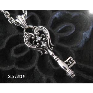 【DB】ハートキー(1)CZ  (メイン)/カギネックレス銀(補722) 0001pppcom