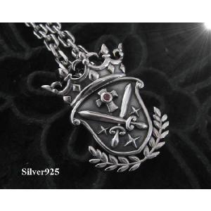 (クラウンシールド(3)RCZ  (メイン) 王冠ペンダントシルバー925|0001pppcom