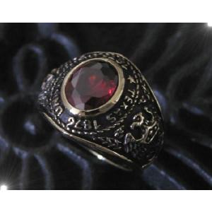 ブラスカレッジリング(1)赤17号・19号・21号・23号/指輪真鍮製(メイン)|0001pppcom