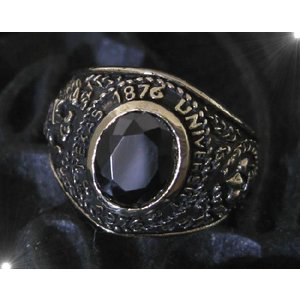 ブラスカレッジリング(1)黒17号・19号・21号・23号/指輪真鍮製(メイン)|0001pppcom