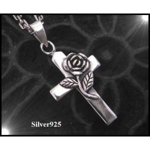 ローズクロス(4)/薔薇・十字架ペンダント(メイン)|0001pppcom