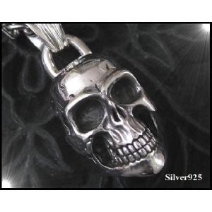 ビッグスカルトップ ドクロ 骸骨 大きめ シルバー925 メイン (補821)|0001pppcom