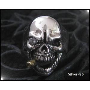 スカルリング(1)   ドクロ 髑髏 骸骨 シルバー925(メイン)|0001pppcom