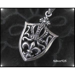 (S&A)クラウンLILYシールド(2) 王冠 十字架 シルバー925(メイン)銀|0001pppcom