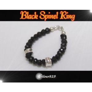 ブラックスピネルリング(2) 09号・11号・13号・15号・17号・19号・21号・23号 天然石(メイン)|0001pppcom
