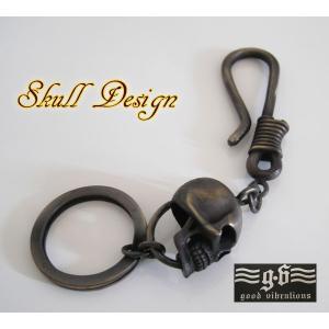(GV)真鍮製ドクロのキーリング スカルブラス メイン 0001pppcom