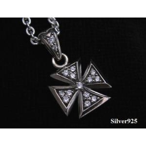 【S&A】CZアイアンクロストップ/十字架 シルバー925(メイン)銀|0001pppcom