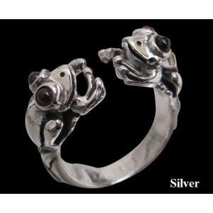 カエル カエルの指輪(ガーネット)  動物  指輪 シルバー925(メイン)|0001pppcom