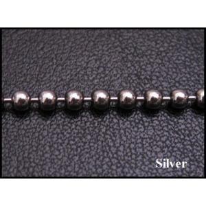 ネックレス (オキシ)ボールチェーン(L)45cm太さ3mm シルバー925(メイン)ネックレス|0001pppcom
