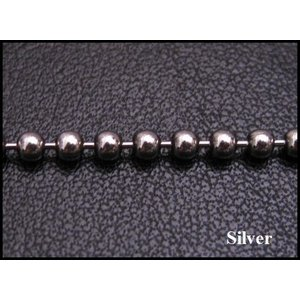 ネックレス (オキシ)ボールチェーン(L)60cm太さ3mm シルバー925(メイン)ネックレス|0001pppcom