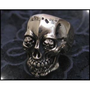 ブラススカルリング(2)11号・13号・15号・16号・17号・18号・19号・20号・21号・22号・23号・24号・25号・27号/ドクロ指輪真鍮製(メイン)|0001pppcom