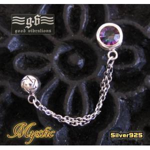 (GV)2ホールピアスミスティッククォーツ 天然石(メイン)|0001pppcom