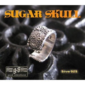 【GV】シュガースカルのイヤーカフ/ドクロ片耳用シルバー925(メイン)|0001pppcom