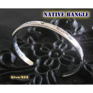 ネイティブバングル(3)SV+B/シンプルシルバー925(メイン)|0001pppcom