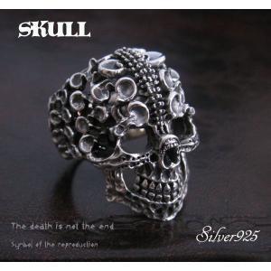 (デザインスカルリング(2) (メイン)指輪ドクロ|0001pppcom