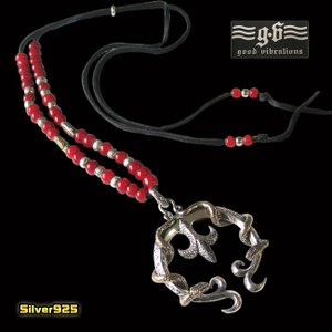 good vibrations(GV)ナジャ ホワイトハーツネックレス(2) (メイン) シルバー925 銀 ネックレス ユリ 蛇 ヘビ|0001pppcom