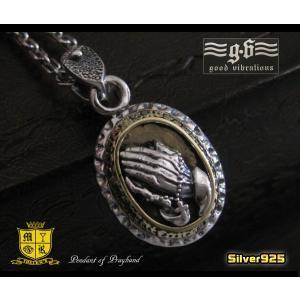 【GV】プレイハンドペンダント(2)SV+B/シルバー925製キリストマリア(メイン)|0001pppcom