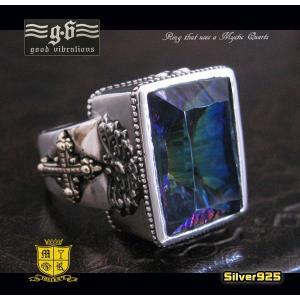 (GV)ゴッドリング(1)ミスティッククォーツ シルバー925製指輪十字架 メイン|0001pppcom