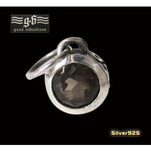 【GV】小さなスモーキークォーツのペンダント(1)/(メイン)天然石・・シルバー925銀|0001pppcom